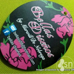 (SN-305) Oval Cardboard Hangtag 7,5x6cm. F/Color 100 Pcs.