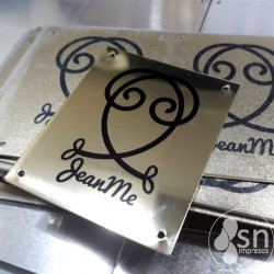 (SN-906) Golden Metal Tags 9x2cm / 8x2cm / 4,5x4,5cm 100 Pzas