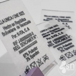 Fiselin labels 2,5cm x 6cm, black printed