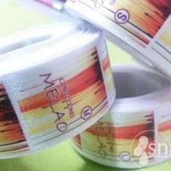 Etiquetas Raso Blanco 4cm. ancho x 3cm. largo