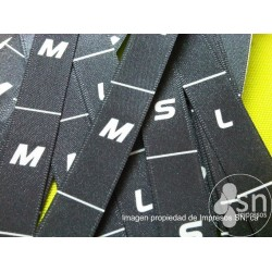 Black Satin Labels 1,5cm. x 3 cm